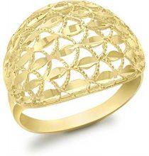 Carissima Gold Anello da Donna in Oro Giallo 9K, Misura 17.8