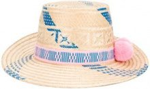 Yosuzi - Cappello 'Pink and Blue Marea' - women - Straw - OS - Color carne & neutri