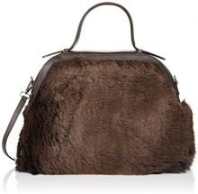 Chicca Borse 8473, Borsa a Mano Donna, Marrone (DarkBrown), 33x28x12 cm (W x H x L)