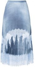 Ermanno Scervino - Gonna con inserti in pizzo - women - Polyamide/Polyester/Viscose - 42 - Blu