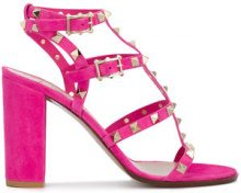 Valentino - studs embellished sandals - women - Suede/Leather - 36, 36.5, 37, 37.5, 38, 38.5 - Rosa & viola