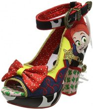 Irregular Choice Rootinest Tootinest Cowgirl, Sandali con Plateau Donna, Blu (Blue/Red/Multi A), 38 EU