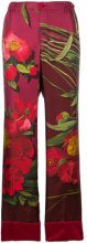 F.R.S For Restless Sleepers - Pantaloni con stampa floreale - women - Silk - M, S, XS - PINK & PURPLE