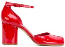 Maison Margiela - Sandali con tacco largo - women - Leather/Patent Leather - 40, 36, 38.5, 39, 36.5 - Rosso