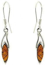 Novis - Orecchino in argento con ambra, arancione