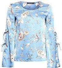 ESPRIT Collection 038eo1f001, Camicia Donna, Blu (Light Blue 440), 46 (Taglia Produttore: 40)