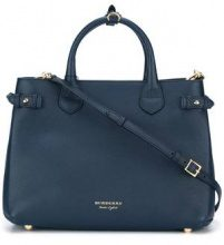 Burberry - Borsa tote 'Banner' - women - Calf Leather/Cotone/metal - One Size - Blu