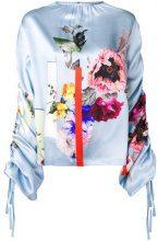 Preen By Thornton Bregazzi - Willis sketchbook floral top - women - Silk - XS, S, L, M - Blu