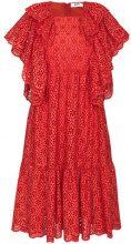 MSGM - Vestito in pizzo sangallo - women - Cotone/Polyester - 42 - Rosso