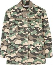 FIND Oversized  Giacca Donna, Verde (Camouflage Print), 48 (Taglia Produttore: X-Large)