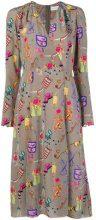 Etro - printed midi dress - women - Silk - 40, 42, 44 - Grigio
