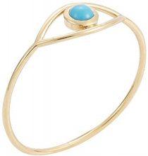 IAM by Ileana Makri Anello da Donna Oro Giallo 10 carati Diamante Marrone Rotondo - Misura 54 (17.2)