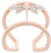 Anapsara - Anello mini con libellula - women - Diamond/18kt Rose Gold - 55 - METALLIC