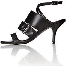 FIND Sandalo con Tacco Donna, Nero (Black), 41 EU