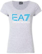 Ea7 Emporio Armani - T-shirt con logo - women - Cotone/Polyester/Spandex/Elastane - XS - Grigio