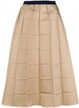 Marni - folded check skirt - women - Polyester/Silk - 40, 42, 44, 36, 38, 46 - NUDE & NEUTRALS