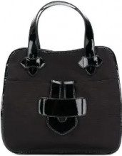 Tila March - Zelig large contrast trim tote - women - Leather/Canvas - OS - Nero