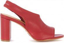 Sandalo con tacco MM6 Maison Margiela in ecopelle rossa