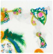 Versace - Sciarpa stampata 'Exotic' - women - Silk/Modal - OS - WHITE