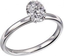 goldmaid FINERING - Anello, con Diamante, oro bianco, misura 54 (17.2)