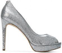 Michael Kors Collection - peep toe pumps - women - Lurex/Polyurethane/rubber - 5, 6, 6.5, 7.5, 8, 8.5, 9, 10 - Metallizzato