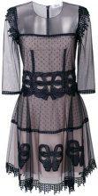 Blumarine - lace design dress - women - Polyamide/Polyester/Spandex/Elastane/Silk - 40 - BLUE
