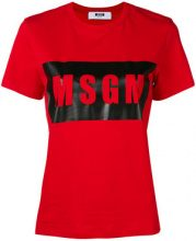 MSGM - logo outline T-shirt - women - Cotone - S, M, L, XS - RED