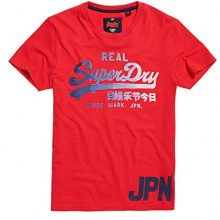 Superdry M10011PP, T-Shirt Uomo, Rosso (Indiana Red), X-Large (Taglia Produttore:XL)