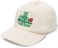 Off-White - Cappello da baseball con dettagli ricamati - women - Cotone - OS - NUDE & NEUTRALS