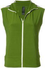 Norma Kamali - sleeveless bomber jacket - women - Polyester/Spandex/Elastane - XS, S, M - GREEN