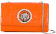 Versus - Clutch con tracolla 'Lion' - women - Patent Leather - OS - Giallo & arancio