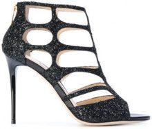 Jimmy Choo - Ren 100 sandals - women - Sequin/Leather - 35.5, 36, 37, 37.5, 38, 38.5, 39, 39.5, 40 - Nero
