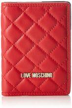 Love Moschino Portafogli Nappa Pu Rosso - Pochette da giorno Donna, (Red), 1x14x10 cm (B x H T)