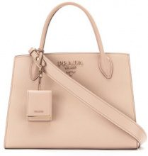 Prada - Monochrome tote bag - women - Calf Leather - OS - Color carne & neutri