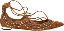 Ballerine Aquazzura christy folk flat Donna Marrone