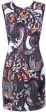 Versace - Baroccoflage cady dress - women - Viscose/Silk - 42 - PINK & PURPLE