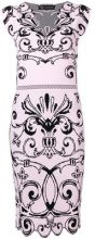 Versace - Baroque jacquard dress - women - Viscose/Polyester - 40, 44, 46 - PINK & PURPLE