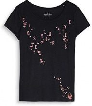 edc by Esprit 087cc1k046, T-Shirt Donna, Nero (Black 001), Medium