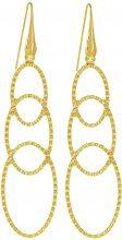 Orecchini ovali in bronzo dorato