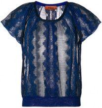 Missoni - Maglia a maniche corte - women - Rayon/Polyester/Cupro/Polyamide - 38, 40, 42 - BLUE