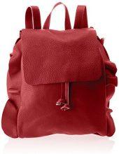 Chicca Borse 8804, Borsa a Zainetto Donna, Rosso, 27x35x17 cm (W x H x L)