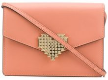 Les Petits Joueurs - Clutch con chiusura a cuore - women - Calf Leather - OS - BROWN