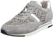 Gabor Shoes Fashion, Scarpe da Ginnastica Basse Donna, Grigio (Grau/Stone(Strass), 36 EU (3.5 UK)