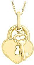 Carissima Gold Collana con Pendente da Donna in Oro Giallo 9K (375), 46 cm
