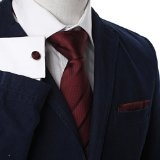 YAC1A08 Classic Mens multi-colored cravatta di seta Wedding Gift 3PT In Y&G