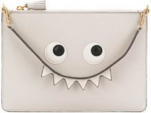 Anya Hindmarch - Pochette 'Creature' - women - Calf Leather - OS - GREY