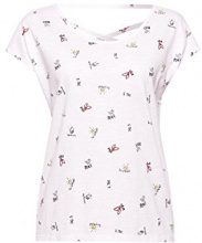 edc by Esprit 058cc1k101, T-Shirt Donna, Bianco (White 2 101), Small