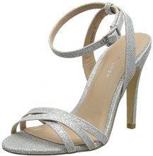 New Look Sharp, Scarpe col Tacco Punta Aperta Donna, Silver (Silver 92), 38 EU
