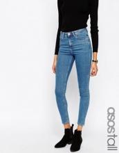 ASOS - Ridley - Jeans skinny a vita alta lavaggio stone wash medio Lily Pretty