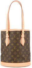 Louis Vuitton Vintage - bucket tote bag - women - Leather/Canvas - OS - BROWN